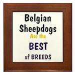 Belgian Sheepdog Best Breeds Framed Tile
