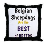 Belgian Sheepdog Best Breeds Throw Pillow