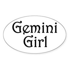 Zodiac: Gemini Girl Oval Bumper Stickers