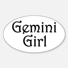 Zodiac: Gemini Girl Oval Bumper Stickers