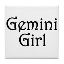 Zodiac: Gemini Girl Tile Coaster