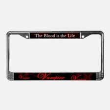 Vampire Ornamental License Plate Frame