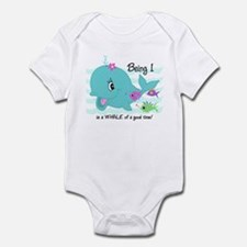 Whale 1st Birthday Infant Bodysuit