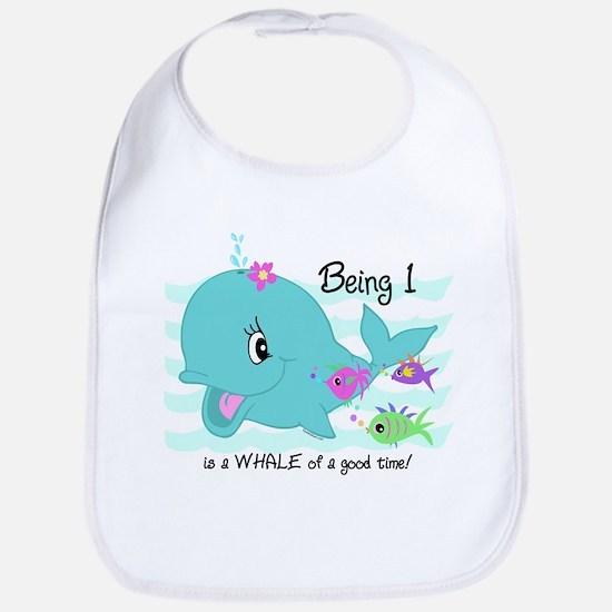 Whale 1st Birthday Bib