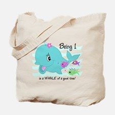 Whale 1st Birthday Tote Bag