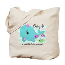 Whale 3rd Birthday Tote Bag