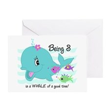 Whale 3rd Birthday Greeting Card