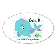 Whale 3rd Birthday Decal