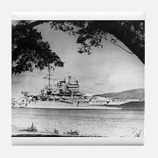 USS New Mexico Ship's Image Tile Coaster