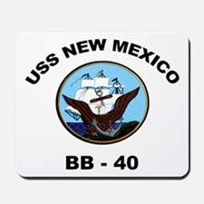 USS New Mexico BB 40 Mousepad