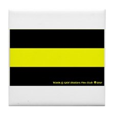 Black and Gold Steelers Fan Club Tile Coaster