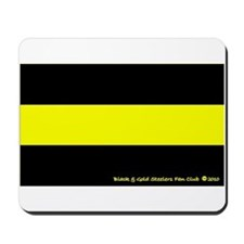 Black and Gold Steelers Fan Mousepad
