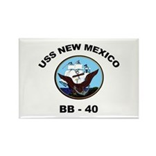 USS New Mexico BB 40 Rectangle Magnet