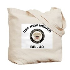 USS New Mexico Ship's Image Tote Bag