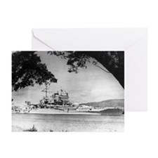 USS New Mexico Ship's Image Greeting Cards (Pk of