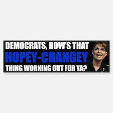 Sarah Palin Hopey-Changey Sticker (Bumper) 10 Pack