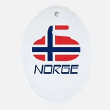 Norway Curling Ornament (Oval)