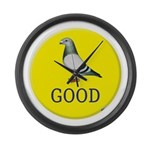 Pigeons-GOOD! Large Wall Clock