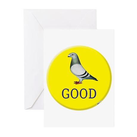 Pigeons-GOOD! Greeting Cards (Pk of 20)