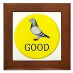 Pigeons-GOOD! Framed Tile