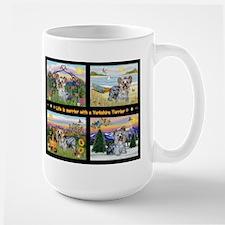 4 Seasons with a Yorkie Mug