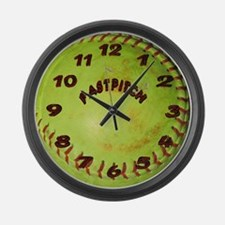 Fastpitch Softball Large Wall Clock
