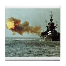 USS Idaho Ship's Image Tile Coaster