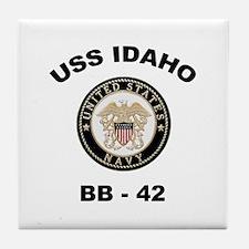 USS Idaho BB 42 Tile Coaster