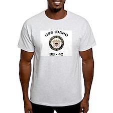 USS Idaho BB 42 Ash Grey T-Shirt