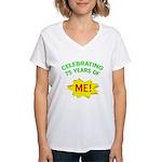 Celebrating My 75th Birthday Women's V-Neck T-Shir