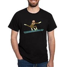 Sock Monkey Snowboarder T-Shirt