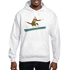 Sock Monkey Snowboarder Jumper Hoody