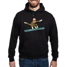 Sock Monkey Snowboarder Hoody