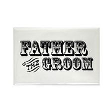 Father of the Groom - Old West Rectangle Magnet