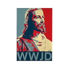 Jesus - WWJD Rectangle Magnet (10 pack)