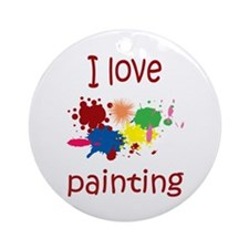I love Painting Ornament (Round)