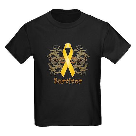 Childhood Cancer Survivor Kids Dark T-Shirt