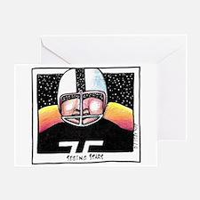 Funny Quarterback Greeting Card