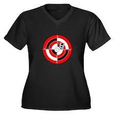 Target Shooting Women's Plus Size V-Neck Dark T-Sh