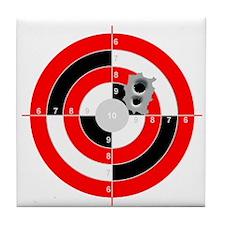 Target Shooting Tile Coaster
