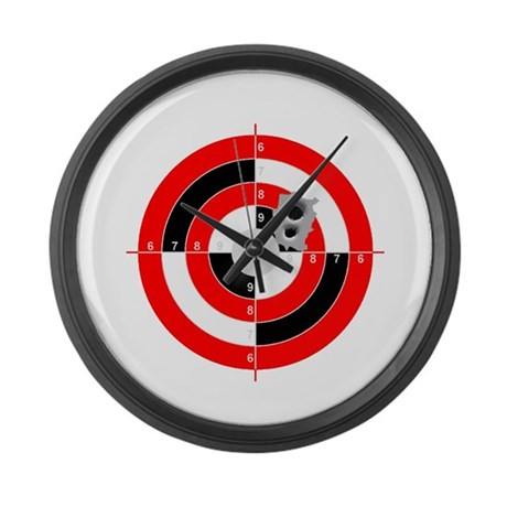 Target shooting large wall clock by auslandgifts for Large wall clocks target