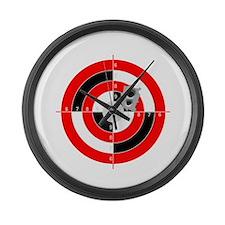 Target Shooting Large Wall Clock