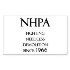 NHPA Rectangle Decal