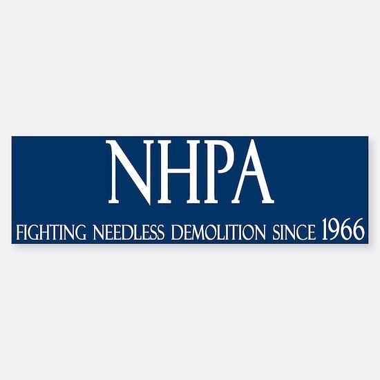 NHPA Bumper Bumper Bumper Sticker