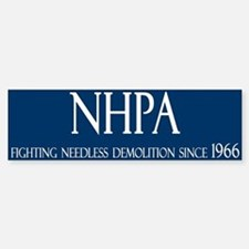 NHPA Bumper Car Car Sticker