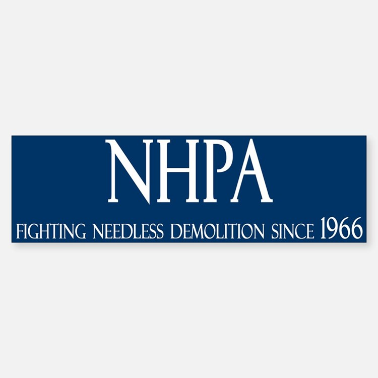 NHPA Bumper Car Car Sticker