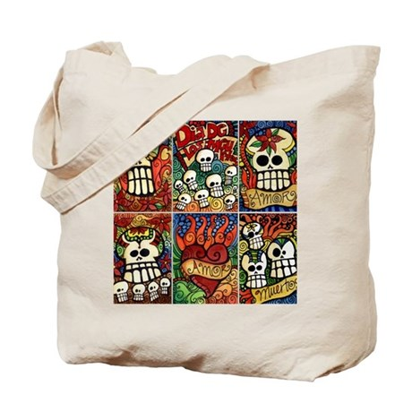 Day of the Dead Sugar Skulls Tote Bag
