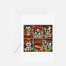 Day of the Dead Sugar Skulls Greeting Card