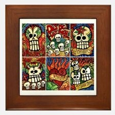 Day of the Dead Sugar Skulls Framed Tile