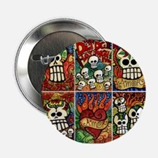 "Day of the Dead Sugar Skulls 2.25"" Button"